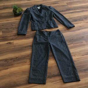 White House Black Market 2-Piece Grey Suit